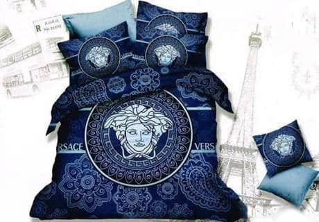 Луксозен спален комплект Versace - Син