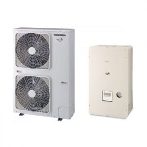 Термопомпа Toshiba Estia HWS-P804XWHT9-E/HWS-P804HR-E