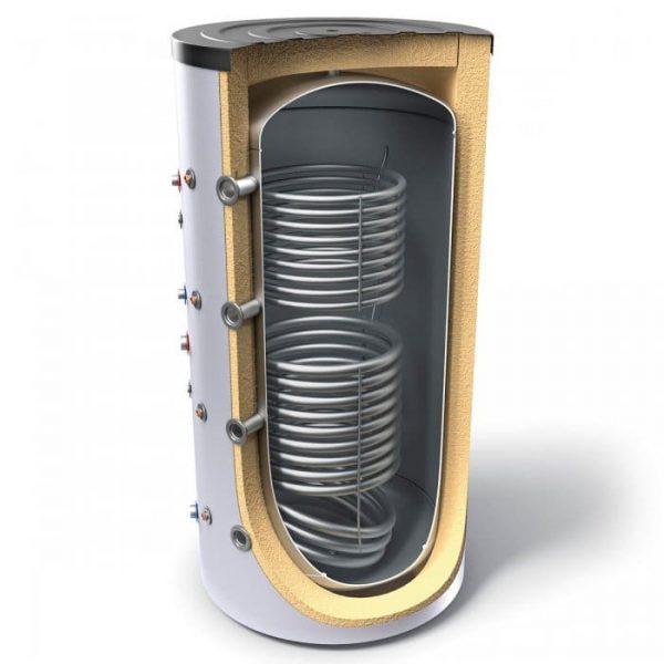 Буферен съд TESY V 11/5 S2 400 75 F42 P6 за отоплителни инсталации с две серпентини