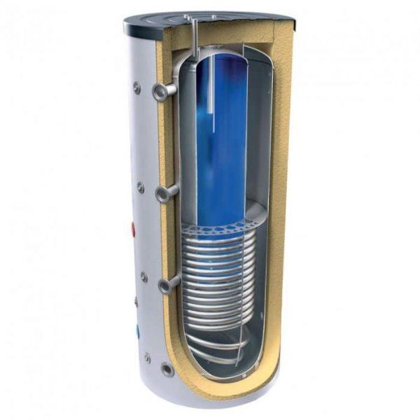 Комбиниран бойлер и буферен съд TESY V 15 S 1000 95 EV 200 45 C за инсталации и БГВ със серпентина
