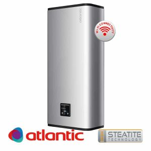 Електрически бойлер Atlantic Vertigo Steatite Wi-Fi 80 Silver